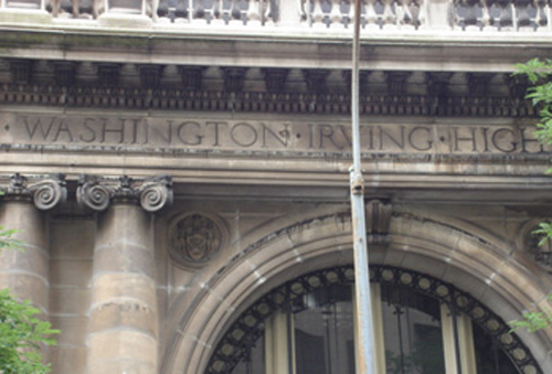Washington Irving High School Front Arch